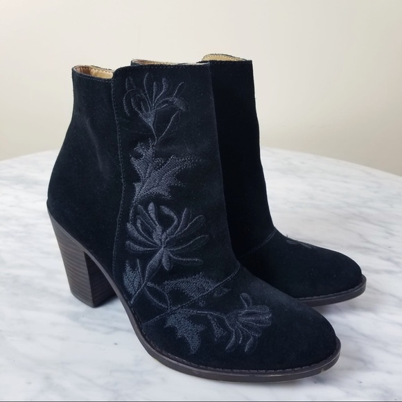 Lucky Brand Shoes - Lucky Brand Elenor 2 Black Leather Ankle Boots